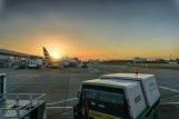 Zachód słońca na lotnisku